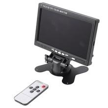 7 Inch Portable Monitor 1024X600 Display HDMI-Compatible/VGA/AV Photography Monitor EU Plug