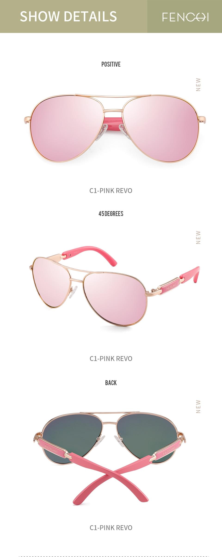 Haec05703a7bd44f6bbb6af95782b053bo FENCHI Polarized Sunglasses Women Vintage Brand Glasses Driving Pilot Pink Mirror sunglasses Men ladies oculos de sol feminino