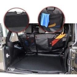Fotelik dla zwierzaka dowód pokrowce siedzenie dla psa obejmuje dla Jeep Wrangler JK JL 4 Door 2007 2018 hamak z wodoodporny odporny na plamy Hypoaller w Pokrywy zaworów od Samochody i motocykle na