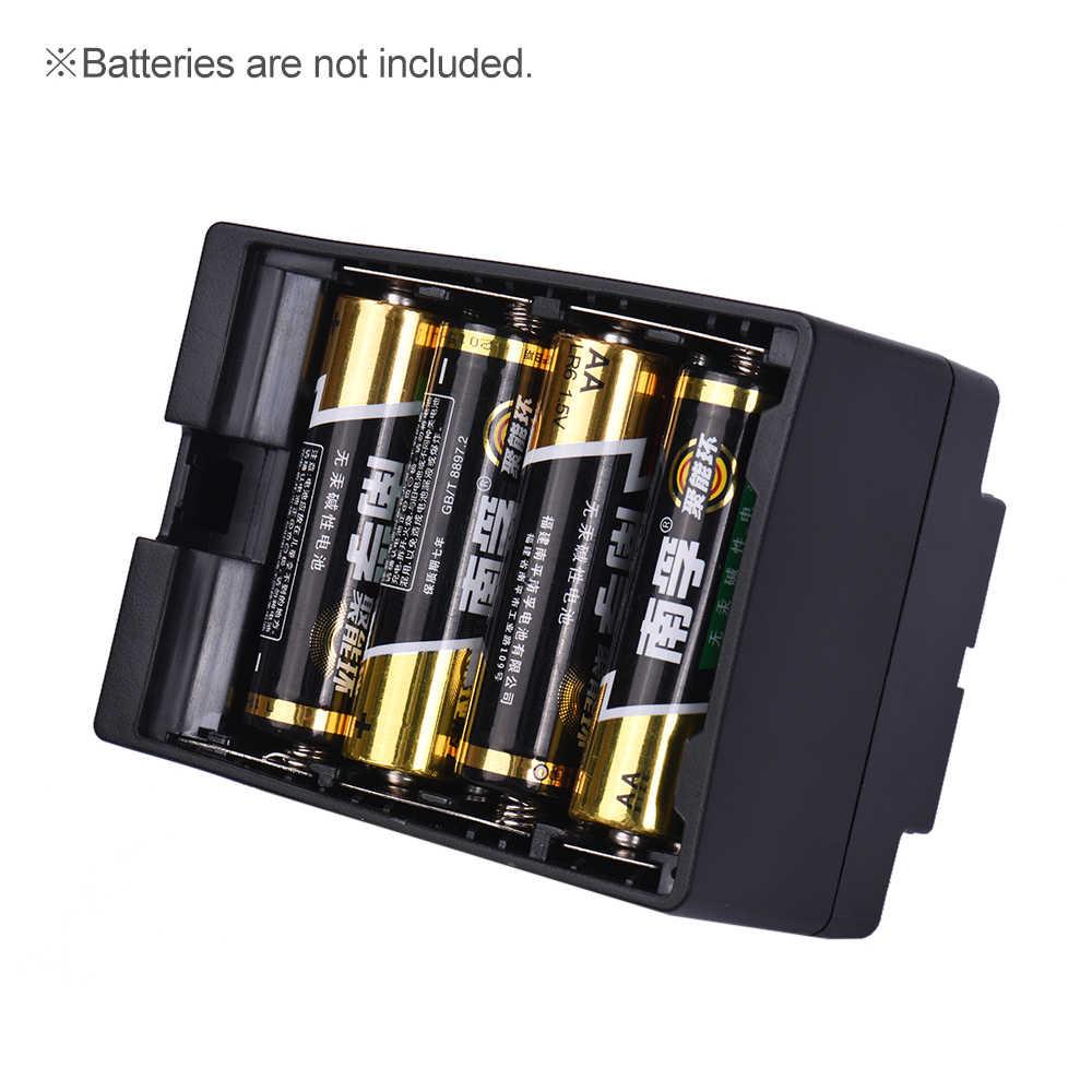 8pcs AA Battery Pack Cassa Del Supporto Sostituire F950/F750/F550 NP-F Serie per LED Video Luce di Pannello/Monitor/ DSLR Della Macchina Fotografica