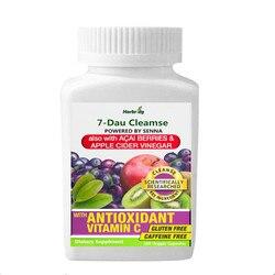 Organique nettoyant pendant 7 jours, formule d'extrait de feuilles de Senna Unique avec antioxydant (vitamine C),Superfruits, Enzymes probiotiques et digestives