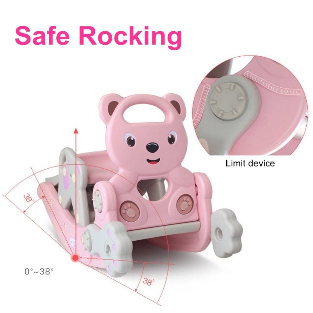 Haec094d774fc448fb6a01d16c84ecf5bm IMBABY 3 in 1 Baby Rocking Horse Slide Basketball Box Children's Kids Toys Indoor Outdoor Kindergarten Safety Game Exercise Toys