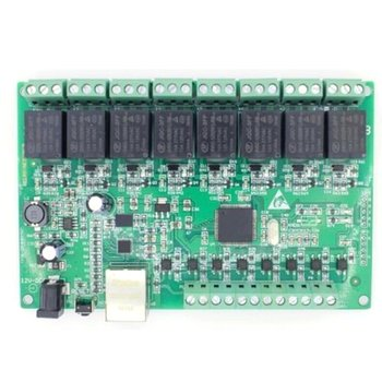 8 Way IO 8 Channel Network Relay Web Relay Dual Control Ethernet TCP Modbus