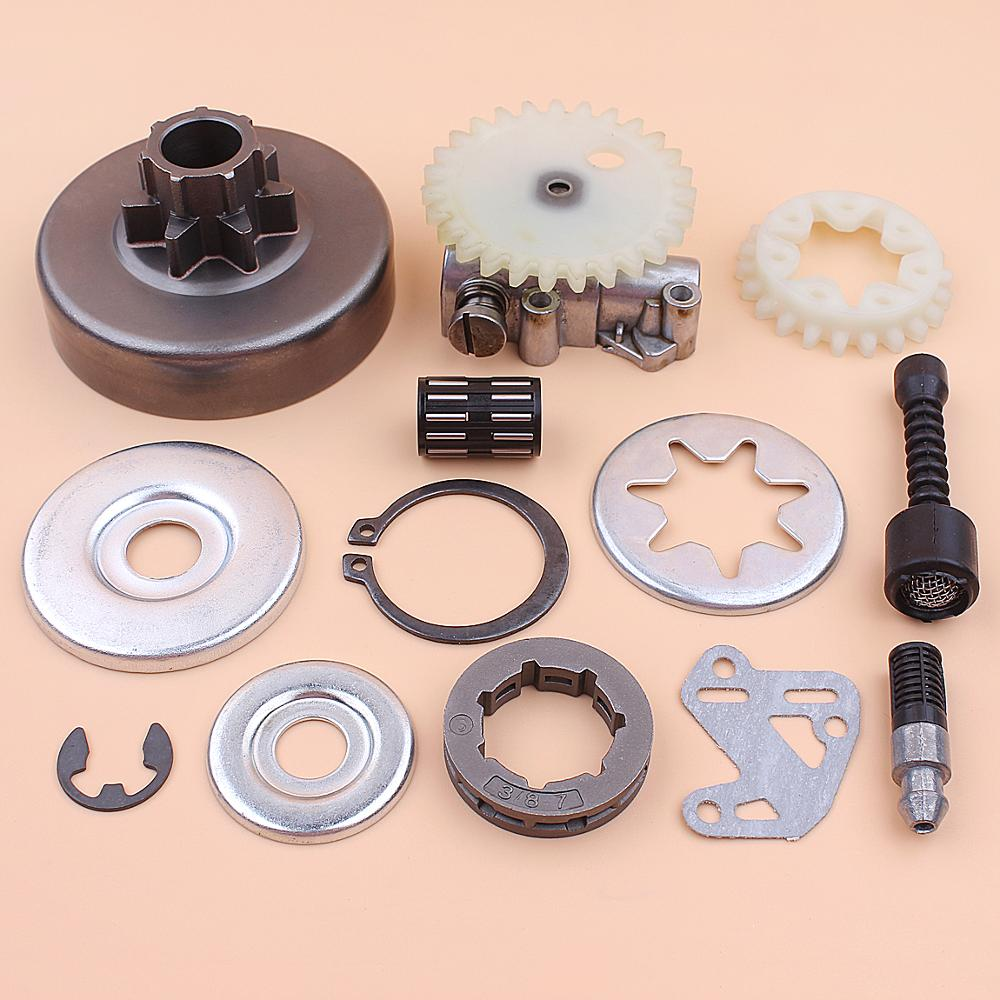 Tools : 3 8inch Clutch Drum Sprocket Rim Oil Pump Filter Line Washer Repair Kit For Stihl MS380 038 1119 0007 1003 1119 640 3200