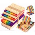Деревянные палочки для мороженого, 50 шт./лот, палочки для мороженого, Фруктового мороженого, инструменты для торта из натурального дерева, DIY...