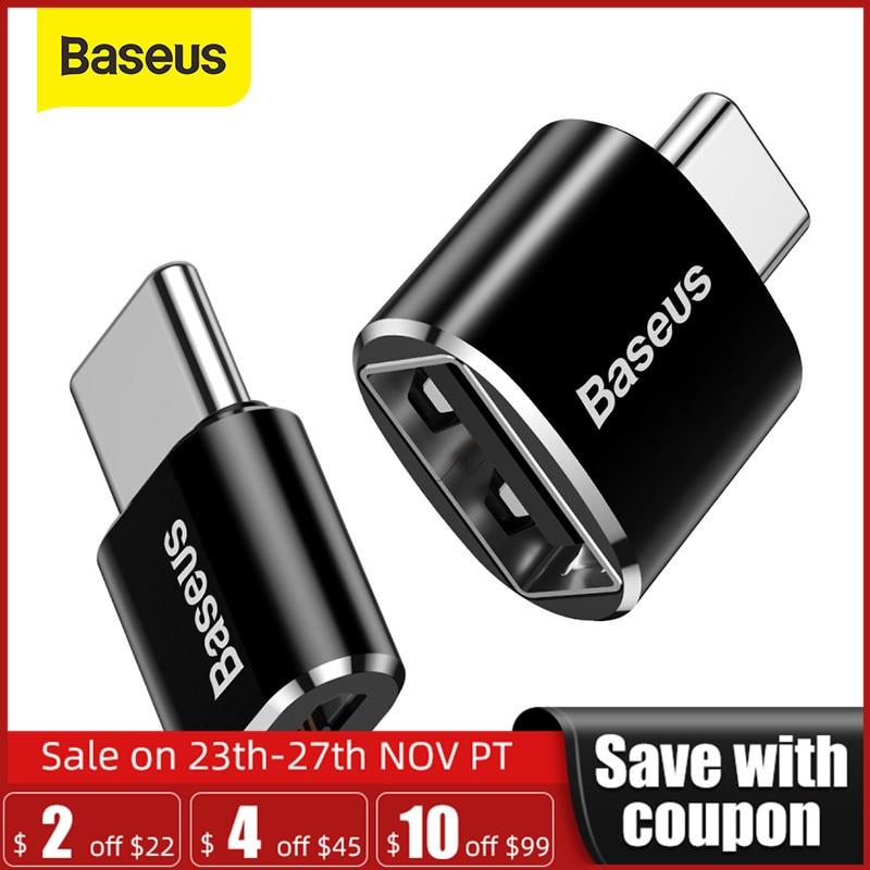 Baseus Type C Male to USB Female OTG Adapter Mini Usb c OTG Charger Plug Adapter Converter for USB Female to Type-C Male