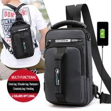 2020 OZUKO New Multifunction Crossbody Bag for Men Chest Pack Sling&Double Shoulder Bag Male Waterproof Short Trip Messenger Bag