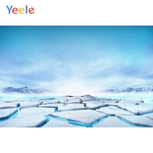 Yeele Christmas Backdrop Winter Tree Snow Ice Mountain Customized Photography Children Birthday Background For Photo Studio