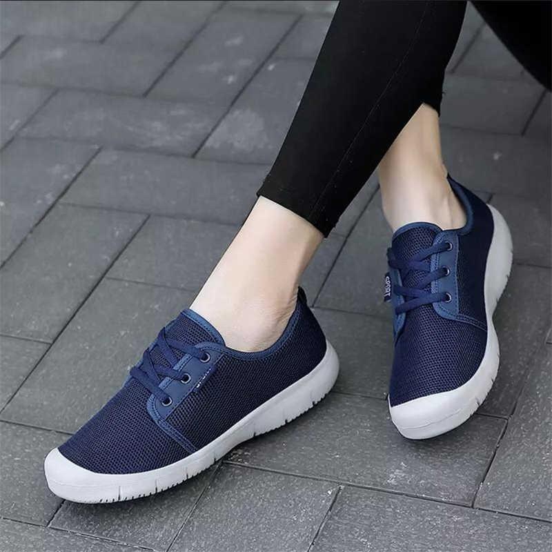 Vrouwen Casual Sneakers Atletische Mesh Ademend Tennis Schoenen Comfort Sport Schoenen Mode