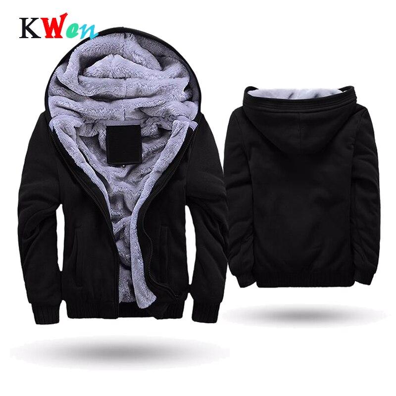 US/EU SIZE Men's Jackets Super Warm Hoodies Sweatshirts Men Casual Winter Thick Fleece Zipper Hoody Adult Coats Top Clothes Male
