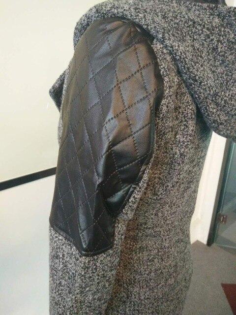 Women Winter Hooded Coat Autumn Zipper Slim Outerwear Spring Fashion Patchwork Black Female Warm Windproof Overcoats 6