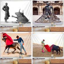 Гобелен испанской арены Настенный Коврик для йоги праздничные