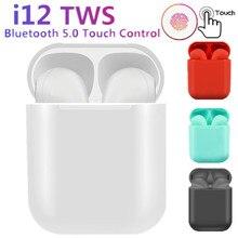 New i12 TWS wireless headphones bluetooth 5.0 earphone Mini Earbuds earphones Music Headset pk i10 i20 i30 for iPhone xiaomi