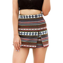 summer wholesales Indie folk geometric shorts for women poly