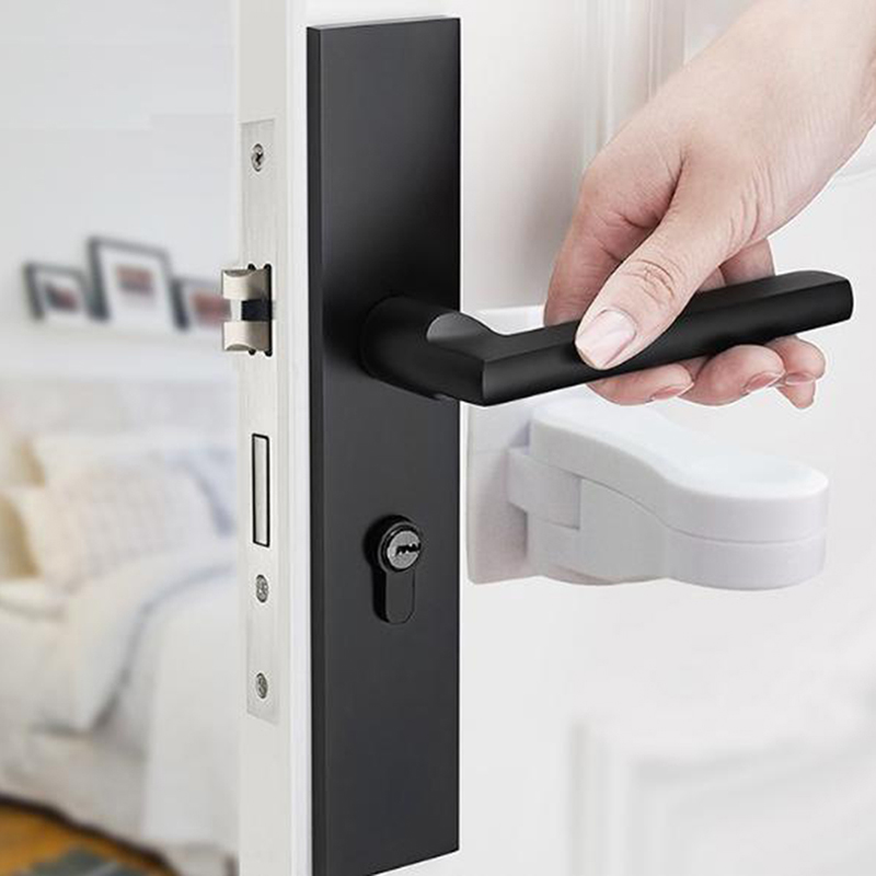 White Plastic Child Safe Security Window Door Sash Lock Safety Lever Handle Sweep Latch Hardware Locks