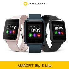 Amazfit bip s lite smartwatch versão global em estoque vida útil da bateria de 30 dias 5 atm controle de música à prova dwaterproof água para android ios telefone