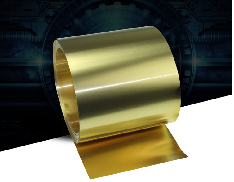 Thickness 0.2mm Width 20-100mm 1Meter/ROLL Thin Brass Strip  Brass Sheet Gold Film Brass Foil Brass Plate H62