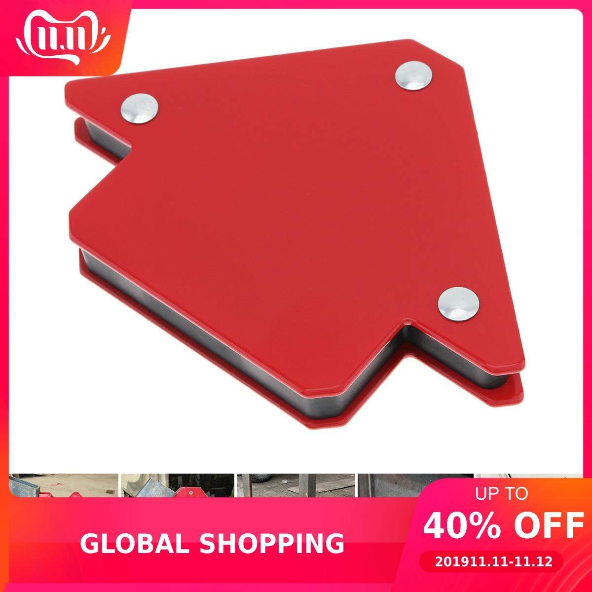 1pcs 25LBS 50LBS 75LBS Welding Magnetic Holder Strong Magnet 3 Angle Arrow Positioner Power Soldering Locator Tool