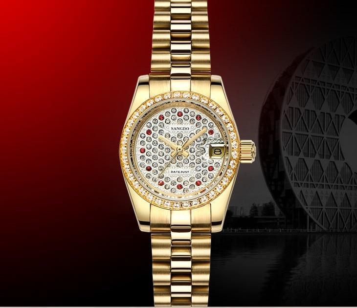 28MM SANGDO partout dans le ciel cadran étoile automatique auto-vent mouvement haute qualité luxe femmes montres mécaniques s319