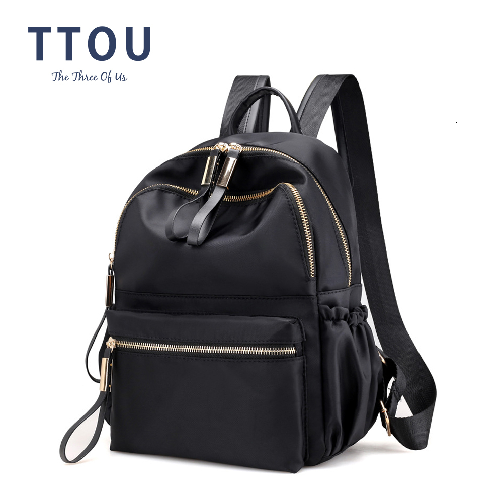 Fashion Women Black Backpack Female Youth Backpacks For Teenage Girls School Shoulder Bags Student College Bookbag Travel Bag