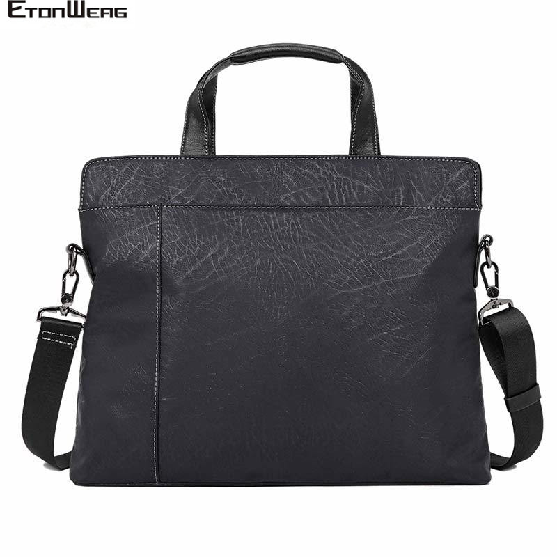 Men's Computer Laptop Briefcase Business Office Tote Male Waterproof PU Leather Handbag Women Casual Shoulder Travel Bags Large