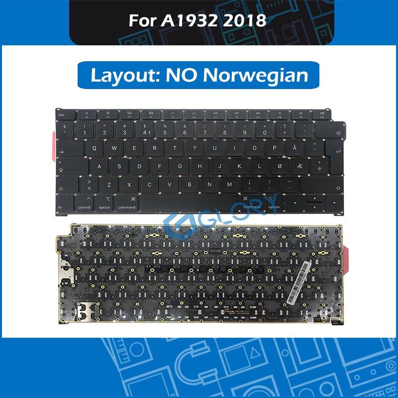 New Norwegian standard A1932 Keyboard For font b Macbook b font Air 13 3 Late 2018