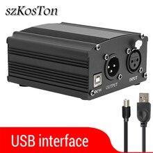 Phantom Power USB para micrófono de estudio bm 800, interfaz de Audio, bm800, Karaoke, condensador, Phantom Power para micrófono de bm 800