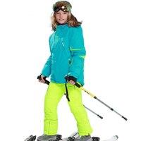 Winter Children's Skiing Suit Girl Windproof Ski Jacket + Snow Pants Boy Outdoor Waterproof Ski Sets Warm Sportswear