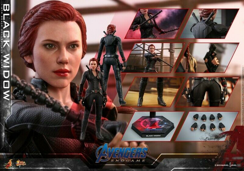 Hot Toys MMS533 1/6 Avengers 4 The Final Battle Natasha Romanoff Black Widow Toy