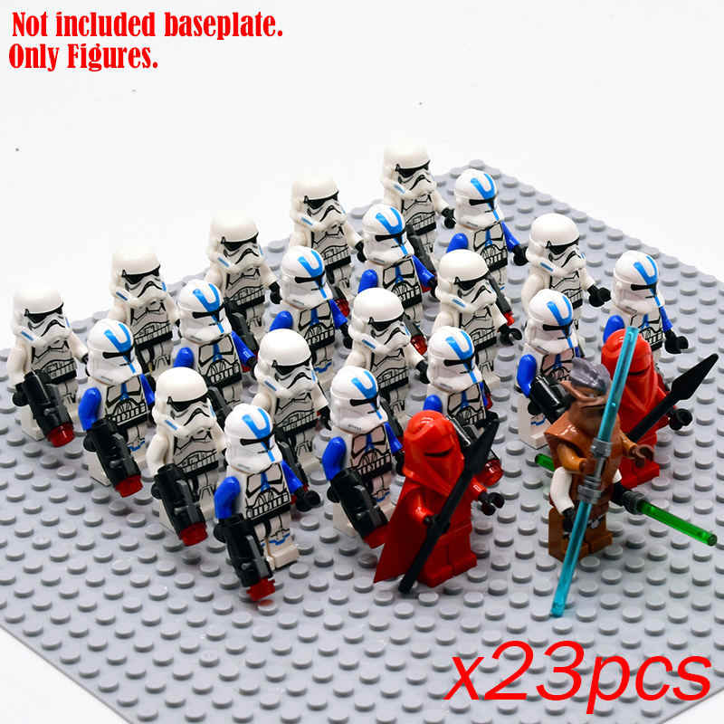 Umum Robot Star Wars Angka Stormtroopers Salju Polisi Blok Bangunan Batu Bata Pertempuran Droid Legoinglys Mainan untuk Anak