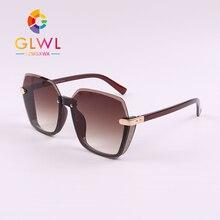 Semi Rimless Sunglasses Women's Glasses Sun Retro Shades Tre
