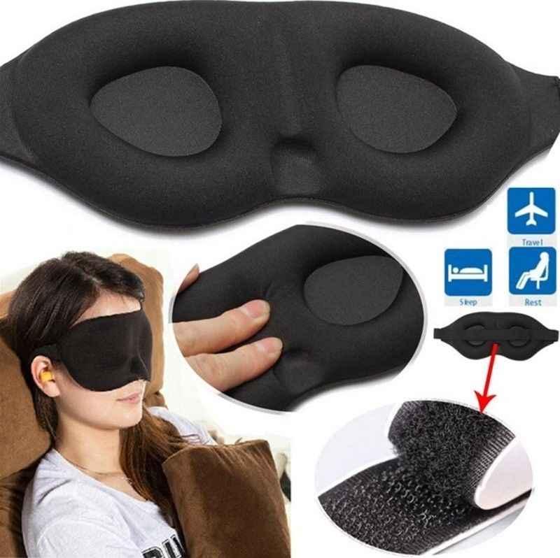 3D Ngủ Ngủ Mặt Nạ Mắt Eyeshade Che Mắt Miếng Dán Nam Nữ Mềm Mại Di Động Bịt Mắt Du Lịch Đệm Mắt Mắt CareTools