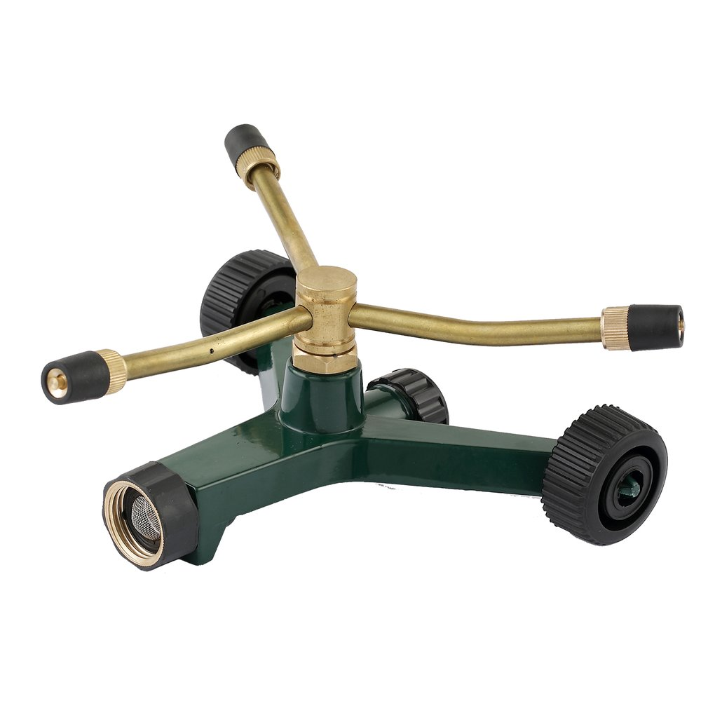 Irrigation Tool Rocker Arm 360 Degree Rotating Nozzle Lawn Three Fork Sprinkler Cyclically Adjustable Nozzle|Garden Sprinklers|   - title=