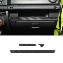 Center Console Decoration Cover Sticker Trim Decal for Suzuki Jimny 2019 2020 Car Interior Accessories Real Carbon Fiber