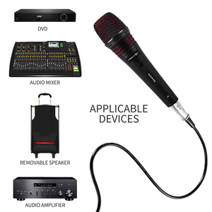 Image 5 - FELYBY Dynamic Microphone Cardioid Metal Wired Handheld Vocal Mic Plug and play For Karaoke Conference Speech Live