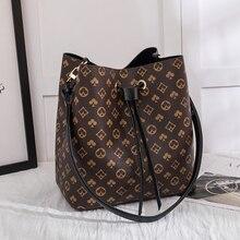 Women's Bag Bucket-Handbag Crossbody-Bags Shoulder Luxury Leather Brand Designer Floral-Printing