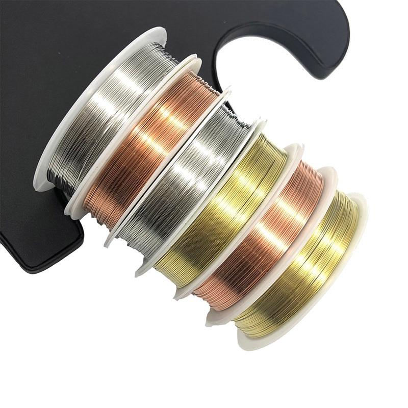 Проволока из медной латуни WIWI 0,2-1,0 мм, для рукоделия, для изготовления ювелирных изделий