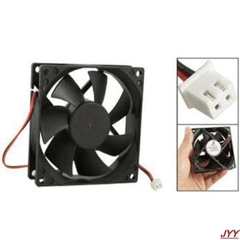 DC 12V black 80mm square plastic cooling fan for computer PC case cooling fan nmb mat 5910pl 07w b75 l54 dc 48v 0 85a 170x150x25mm server square fan