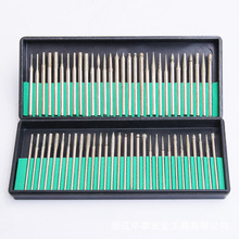 30Pcs Diameter 3mm Shank Diamond Grinding Needle Suits The Electroplated Head Alloy Rod Nail tool