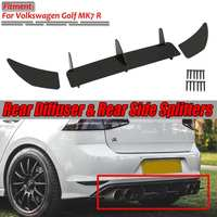 New MK7 R Car Rear Bumper Diffuser & Rear Side Splitters Spolier Guard Cover Trim Protector For VW For Volkswagen For Golf MK7 R