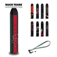 Magic Shark Spider Man Amerikaanse Kapitein Venum V-Vendetta Snake Sticker Case Film & 1A 2A Kabel Hang Riem voor Uwell Caliburn