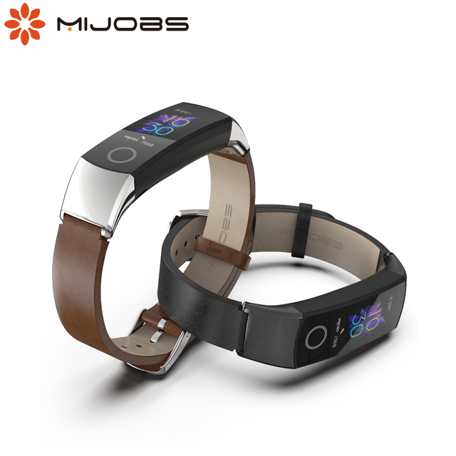 Strap for Huawei Honor Band 5 Strap Smart Wristband for Honor Band 4 Strap Genuine Leather for band 5 Bracelet Smart Accessories