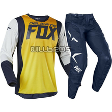 2019 MX 180 A1 Idol Yellow Navy Jersey Pants Dirt bike Off Road Sports MTB ATV Motocross Gear Set moto Combo