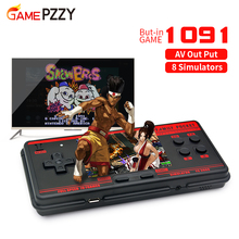 وحدة تحكم ألعاب فيديو محمولة قديمة ، وحدة تحكم محمولة مع 1091 لعبة كلاسيكية مدمجة ، متوافقة مع 8 التنسيقات ، مخرج صوت وصورة