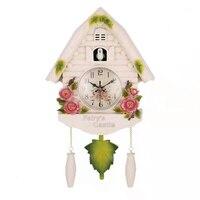 귀여운 새 벽시계 뻐꾸기 알람 시계 뻐꾸기 시계 거실 시계 간략한 어린이 침실 장식 홈 데이 타임 알람 시계 A