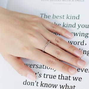 Image 2 - Pulseira de casamento de prata esterlina 925 para mulheres jóias finas anel de balé 0.008ct moissanite ef color eternity band