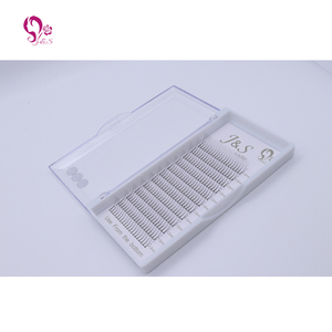 Image 3 - Jeyelash Pre made fans 3D volume eyelash extensions, heat bonded lashes ,5 trays/lot J & S faux mink eyelashes