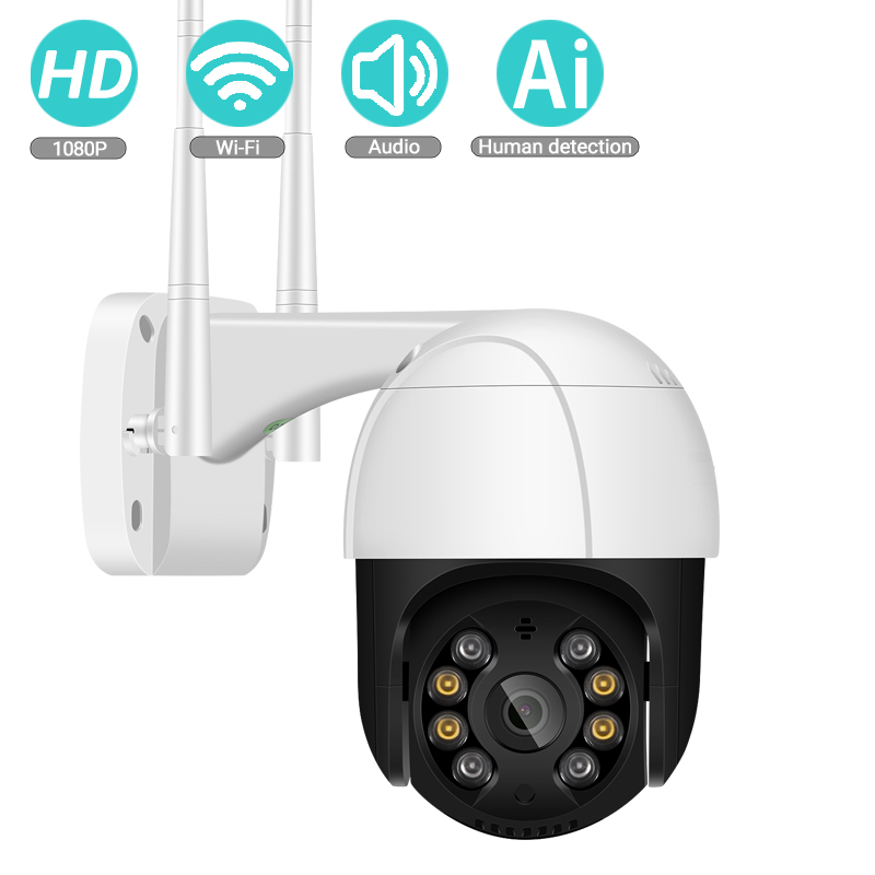 BESDER 1080P FHD Mini WiFi Camera Ai Human Motion Detection Waterproof IP Camera 2-way Audio IR Night Vision CCTV Surveillance