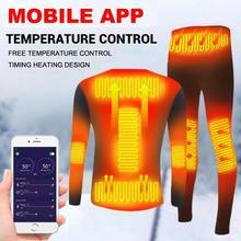 Jacket Underwear-Suit Winter Men Moto Temperature Usb-Battery-Powered Smart-Phone-App-Control