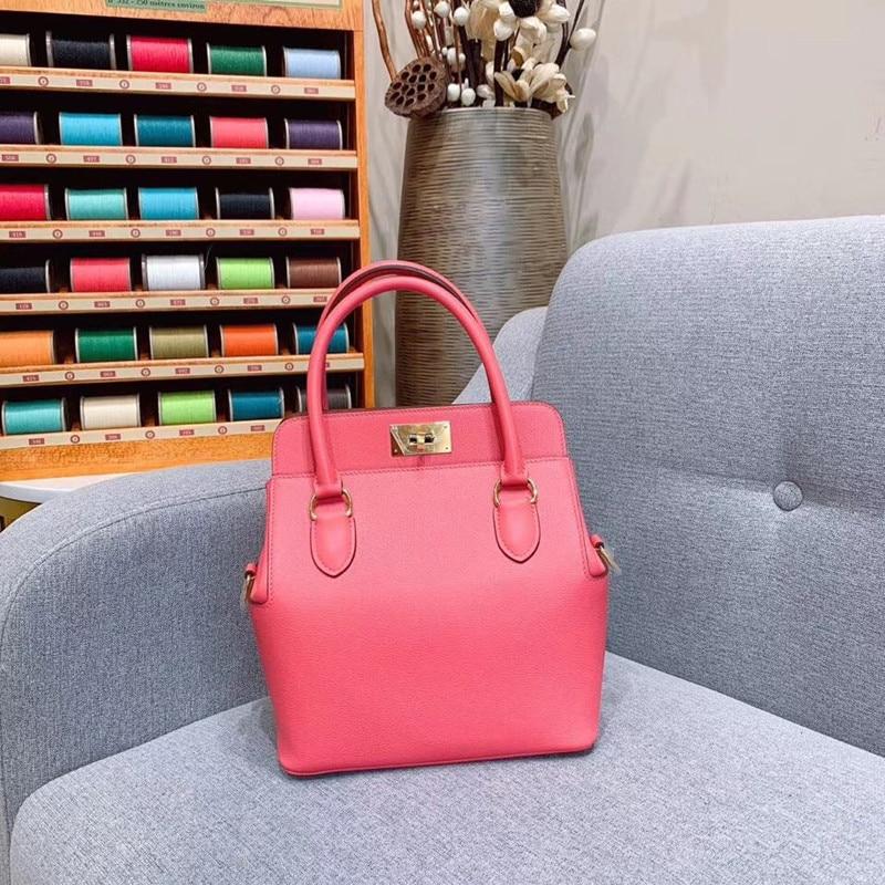 Women Bag Runway Luxury Handbags Genuine-Leather Top-Quality Desigin Brand of Female